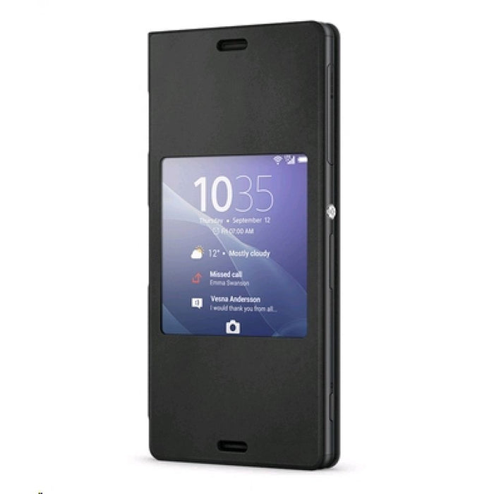 Sony SCR24 Cover Wallet Case for Sony Xperia Z3 in Black