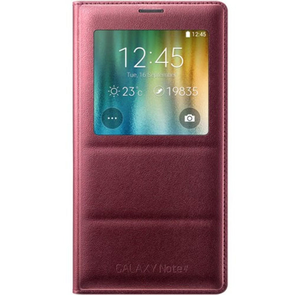 Samsung S View Flip Cover for Samsung Galaxy Note 4 in Plum