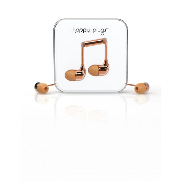 Happy Plugs In-Ear Earphones in Rose Gold