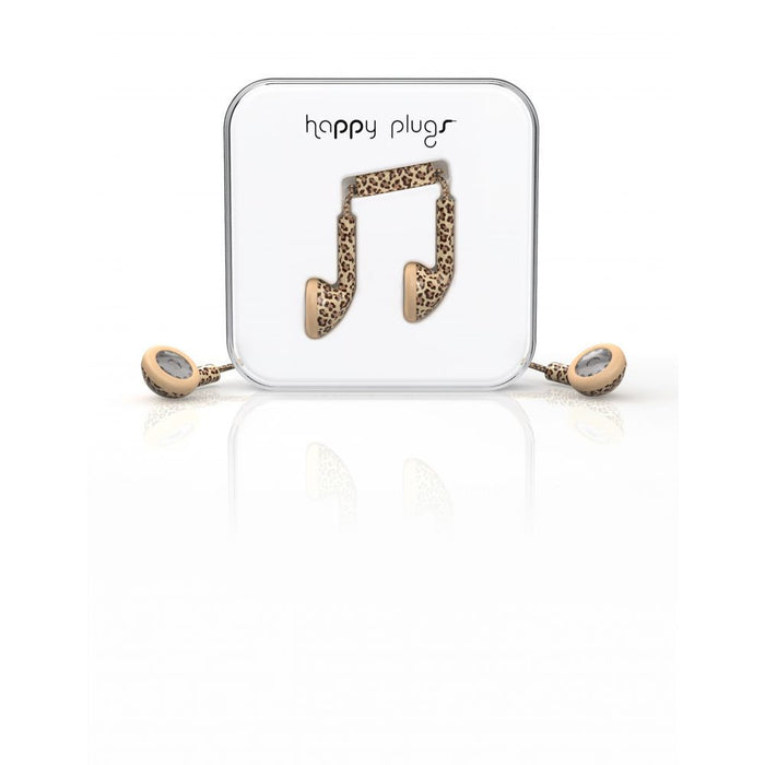 Happy Plugs EarBud Earphones in Leopard