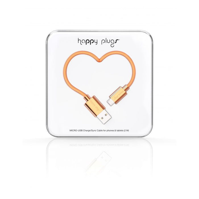 Happy Plugs Cable Micro USB to USB in Rose