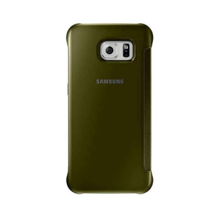 Samsung Clear View Case for Samsung Galaxy S6 in Gold