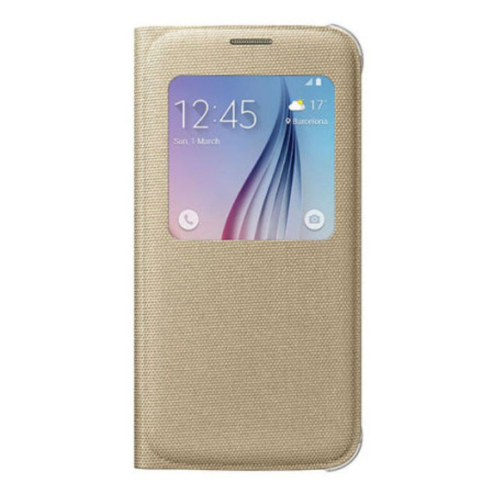 Samsung S View Fabric Premium Case for Samsung Galaxy S6 in Gold