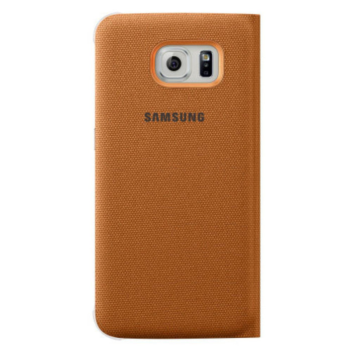 Samsung S View Fabric Premium Case for Samsung Galaxy S6 in Orange