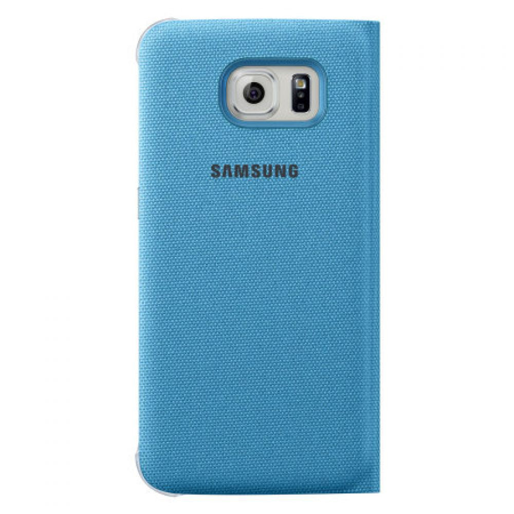 Samsung Flip Wallet Fabric Case for Samsung Galaxy S6 in Blue