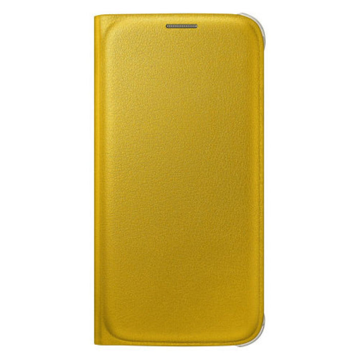 Samsung Flip Wallet Case for Samsung Galaxy S6 in Yellow