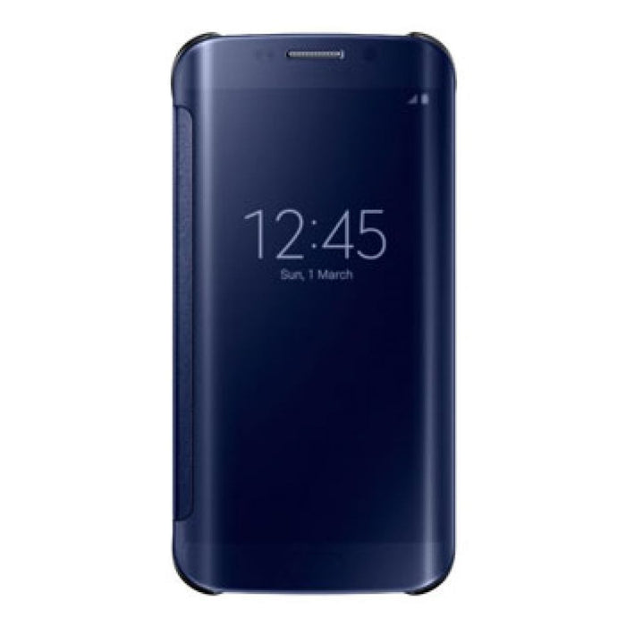 Samsung Clear View Case for Samsung Galaxy S6 Edge in Black/Blue