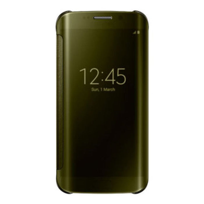 ee040a1f73 Samsung Clear View Case for Samsung Galaxy S6 Edge in Gold — Doohickey Hut
