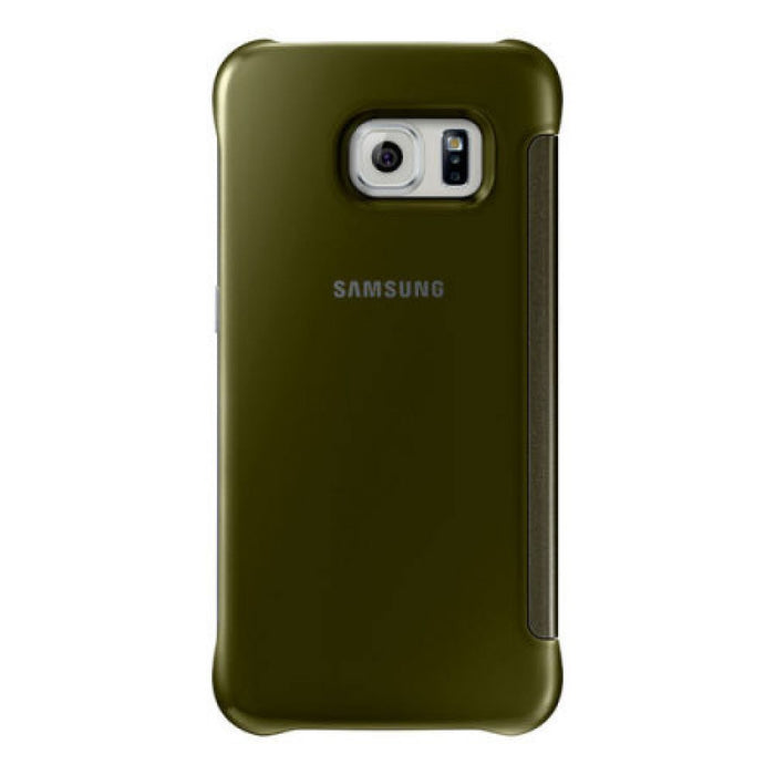 Samsung Clear View Case for Samsung Galaxy S6 Edge in Gold