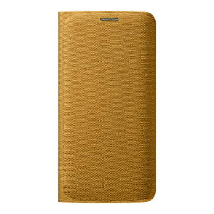 Samsung Flip Wallet Fabric Case for Samsung Galaxy S6 Edge in Yellow
