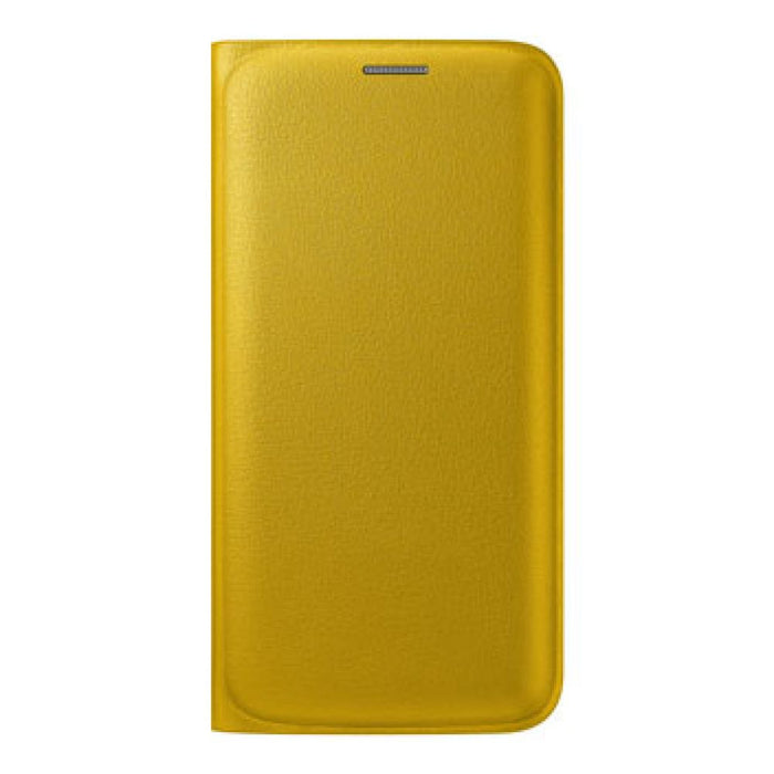 Samsung Flip Wallet Case for Samsung Galaxy S6 Edge in Yellow