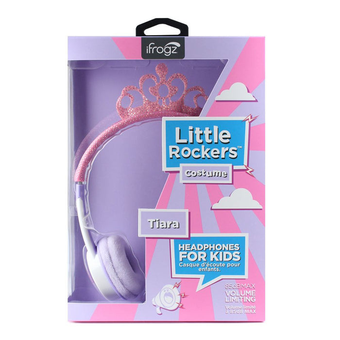 iFrogz Little Rockers Kids Tiara Headphones in Pink