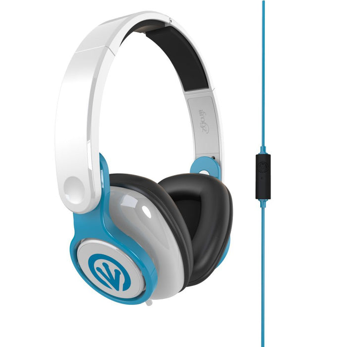 iFrogz InTone Headphones in White/ Blue