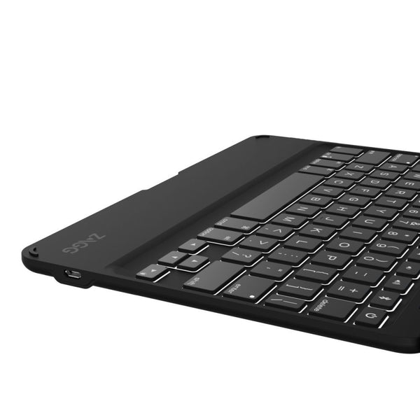 Zagg Folio Tablet Case with Backlit Wireless Bluetooth Keyboard for Apple iPad Air 2 in Black