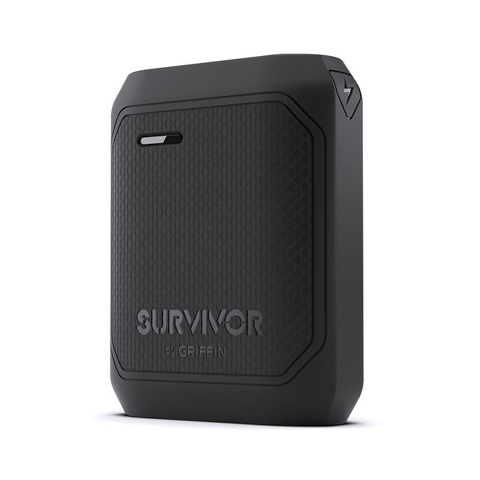 Griffin Survivor Portable Power Bank Battery Pack 10200mAh in Black