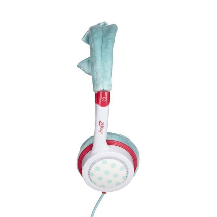 iFrogz Little Rockers Kids Bow Headphones in Turquoise