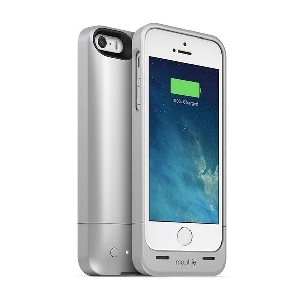 Mophie Juice Pack Helium 1500mAh Extended Battery Charging Case for Apple iPhone 5/5s/SE in Silver