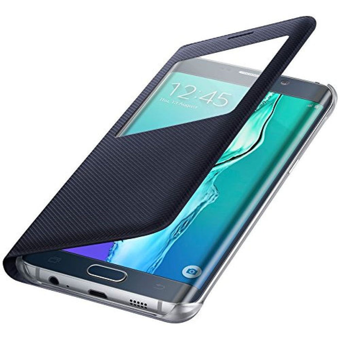Samsung S View Premium Case for Samsung Galaxy S6 Edge+ in Black
