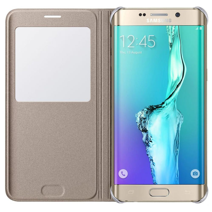 Samsung S View Premium Case for Samsung Galaxy S6 Edge+ in Gold