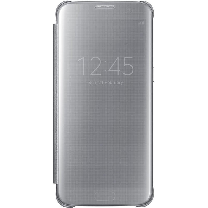 Samsung Clear View Case for Samsung Galaxy S7 Edge in Silver