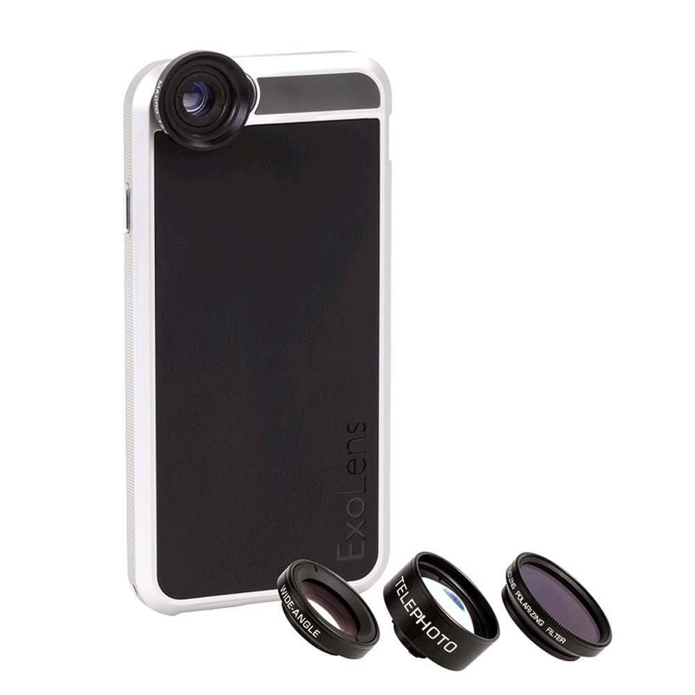 ExoLens Case and 4 Lenses for Apple iPhone 6/6s in Black/Silver