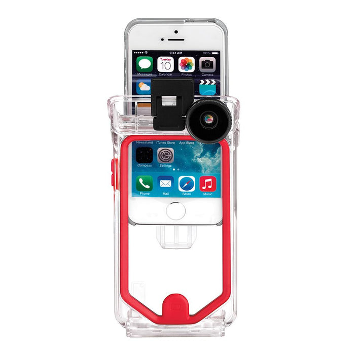 new style 0ba69 cd3e2 Optrix Waterproof Action Camera Case with 4 Lens Kit for iPhone 5/5s/SE  (Pro) in Clear