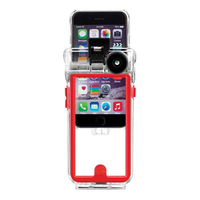 reputable site 44ce0 98cf9 Optrix Waterproof Action Camera Case with 2 Lens Kit for iPhone 6/6s  (Standard) in Clear
