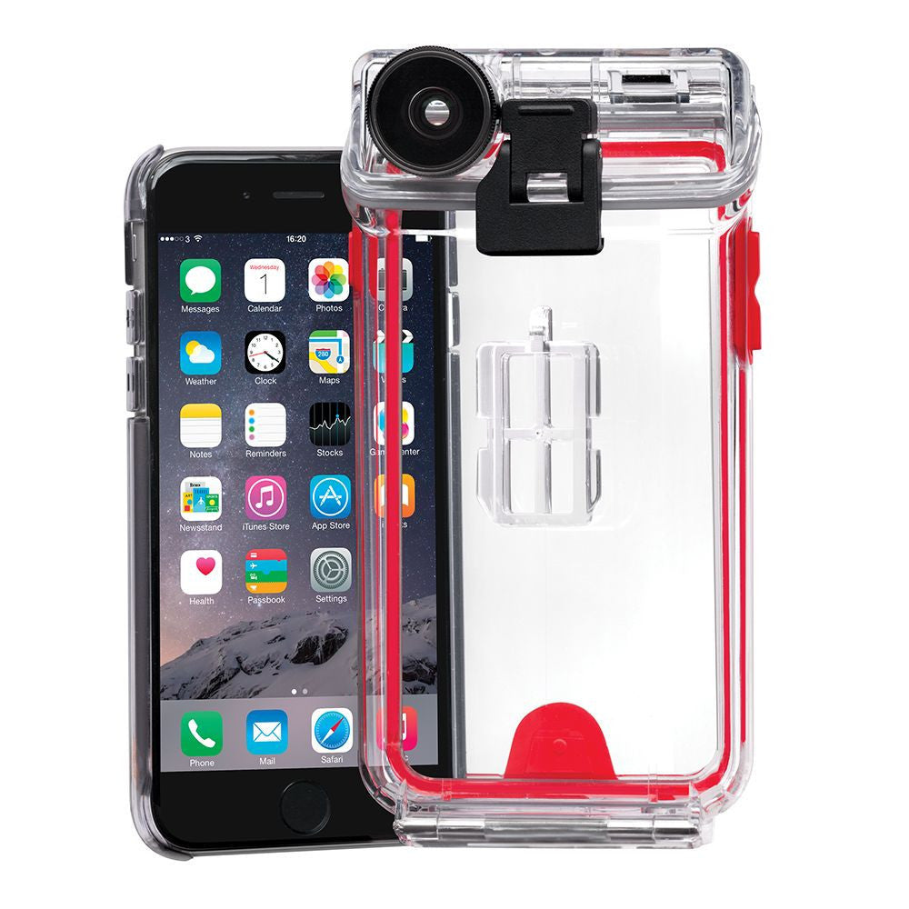 Optrix Waterproof Action Camera Case with 4 Lens Kit for iPhone 6/6s (Pro) in Clear