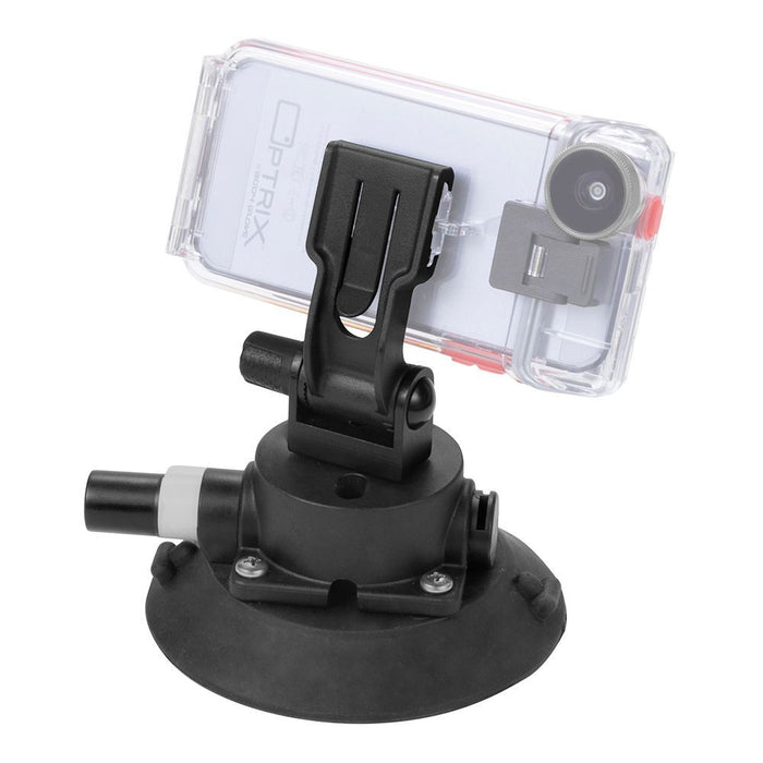 Optrix Super Sucker Mount Accessory for Optrix Waterproof Action Camera Case in Black