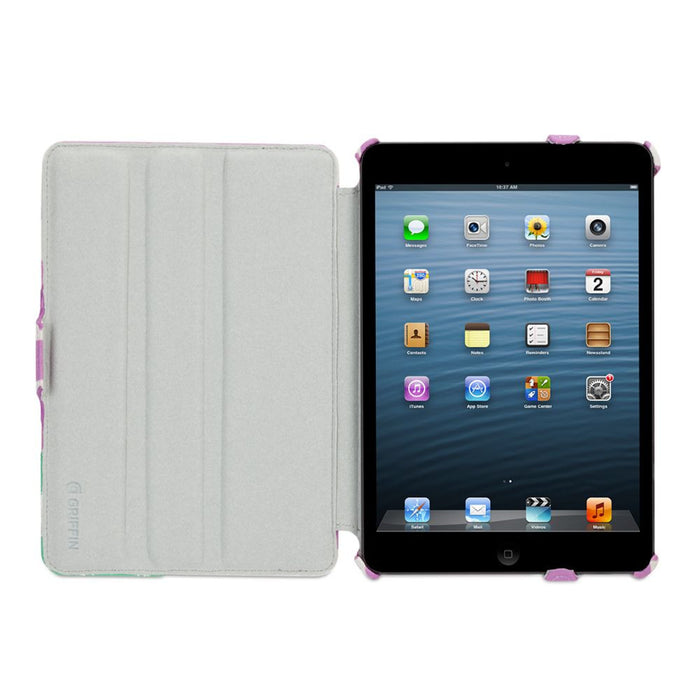 Griffin Journal Case for Apple iPad Mini in Purple/White
