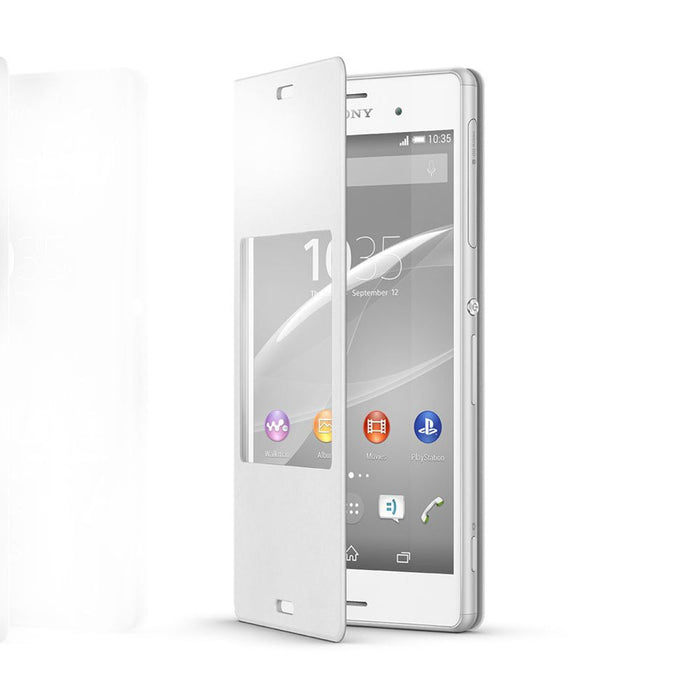 Sony SCR24 Style Cover Window Case for Sony Xperia Z3 in White