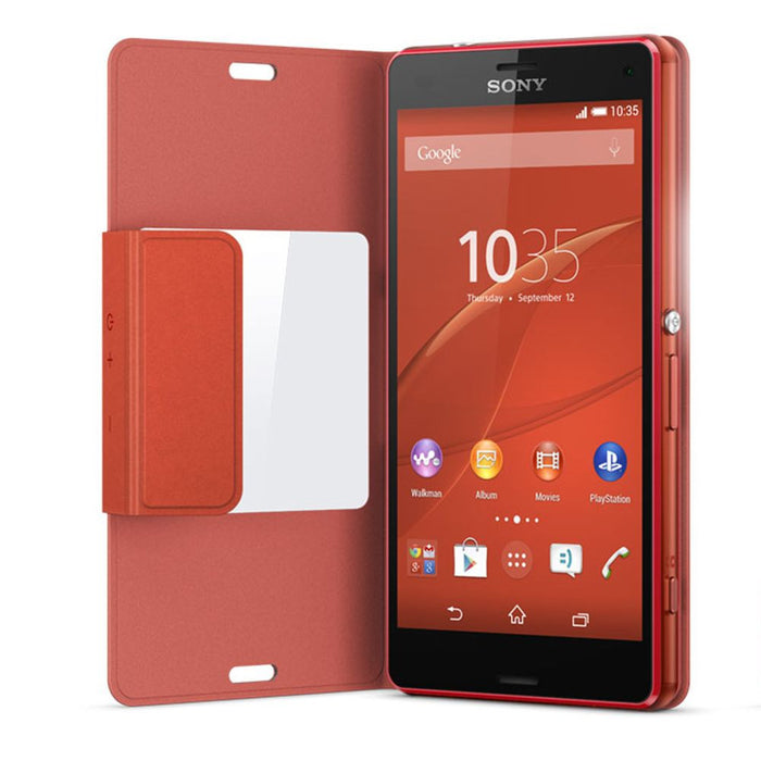 finest selection 63734 9c7e1 Sony SCR26 Style Cover Window Case for Sony Xperia Z3 Compact in Sunset  Orange