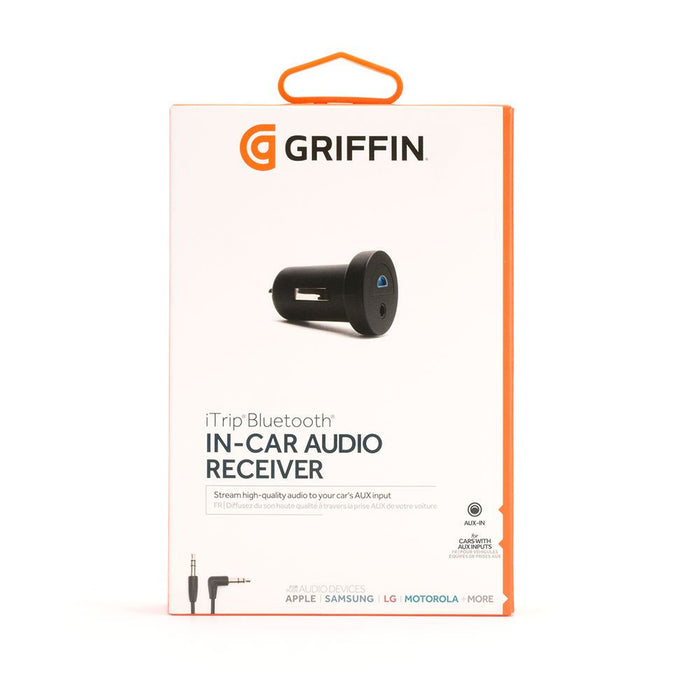 Griffin iTrip Aux Bluetooth In-Car Audio Receiver for Bluetooth Enabled Devices in Black