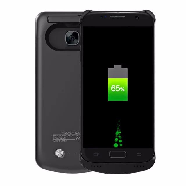 Samsung Galaxy S7/S7 Edge 4200 mAh Battery Charger Case - Black