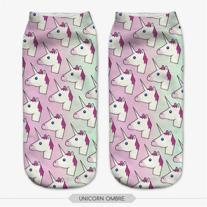 Unicorn Socks Assorted 6 Pack