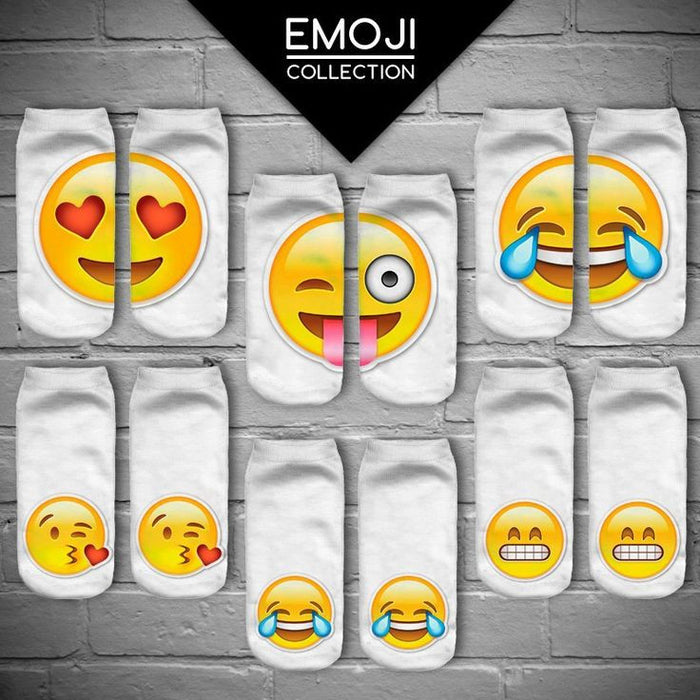 Assorted 6 Pack Emoji Socks