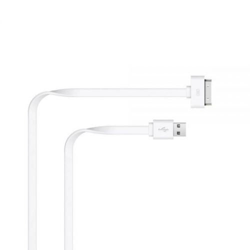 Just Wireless 2m Apple 30 Pin to USB Charge and Sync Cable in White
