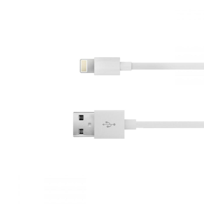 Just Wireless 0.5m Apple Lightning Charge and Sync Cable in White
