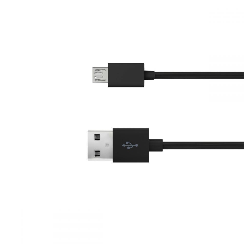 Just Wireless 0.5m Micro USB Charge and Sync Cable in Black