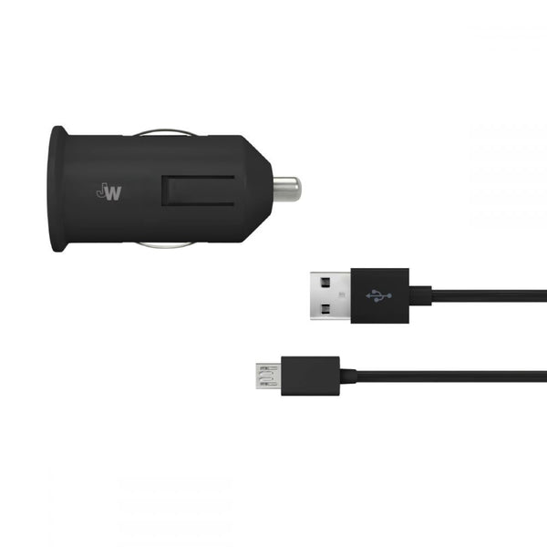 Just Wireless 1A x2 Dual Micro USB Car Charger in Black