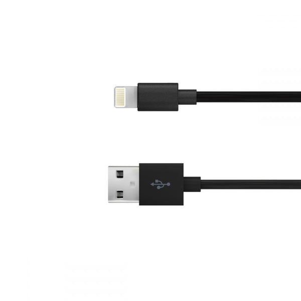 Just Wireless 1.5m Apple Lightning Charge and Sync Cable in Black