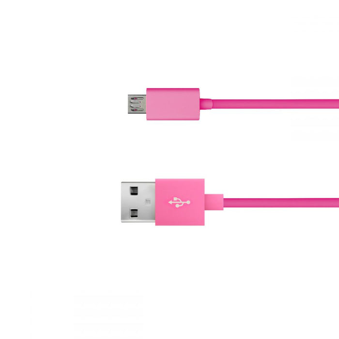 Just Wireless 1.8m Micro USB Charge and Sync Cable in Pink