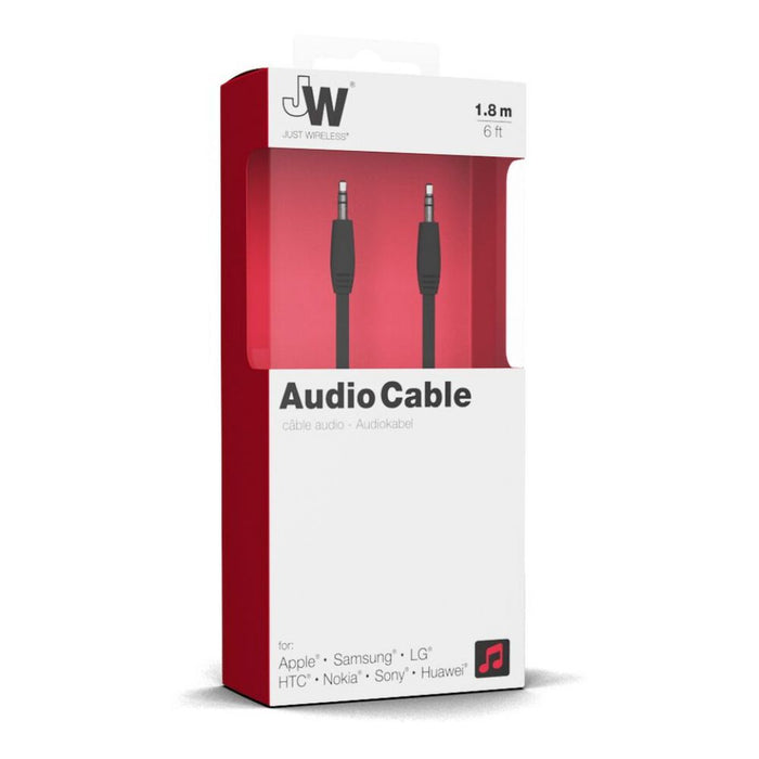 Just Wireless 1.8m Audio Cable in Black