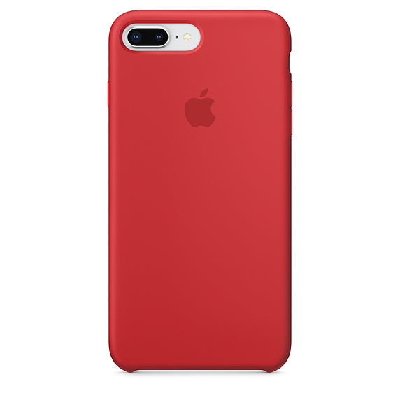 Official Apple iPhone 7 Plus iPhone 8 Plus Silicone Back Case Cover - Product Red
