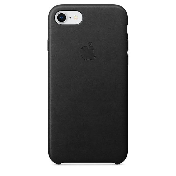 44659bf335 Official Apple iPhone 7 / iPhone 8 Leather Back Case Cover - Black — Doohickey  Hut