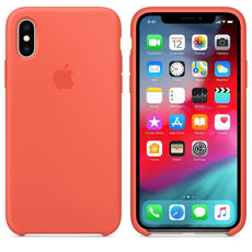Official Apple iPhone X iPhone XS Silicone Back Case Cover - Nectarine