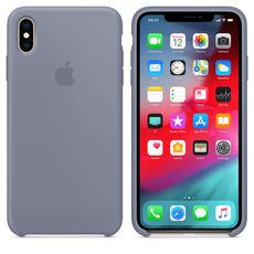 Official Apple iPhone X iPhone XS Silicone Back Case Cover - Lavender Grey
