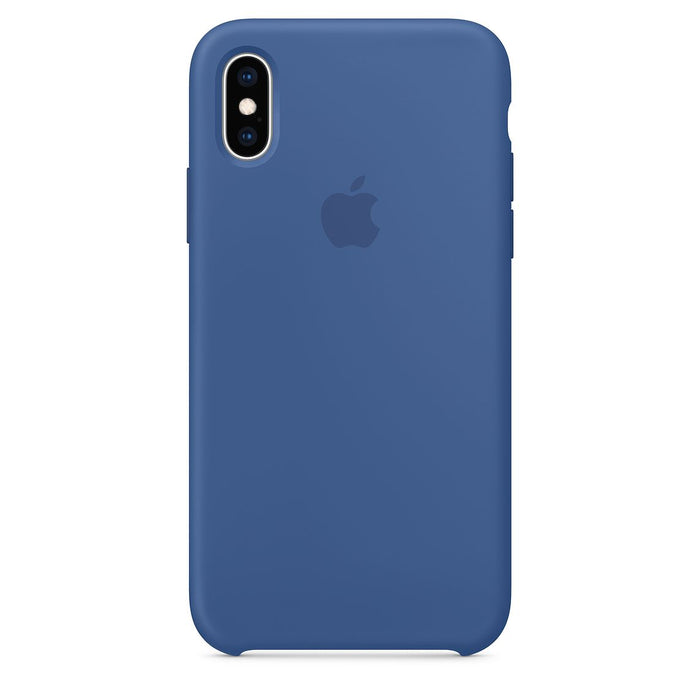 Official Apple iPhone X iPhone XS Silicone Back Case Cover - Delft Blue