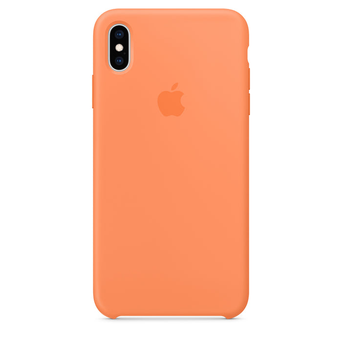 Official Apple iPhone X iPhone XS Silicone Back Case Cover - Papaya