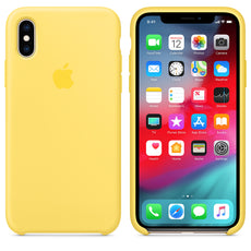 Official Apple iPhone X iPhone XS Silicone Back Case Cover - Canary Yellow